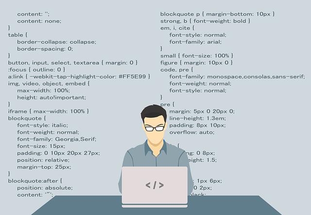 programátor při práci