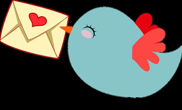 ptáček s dopisem