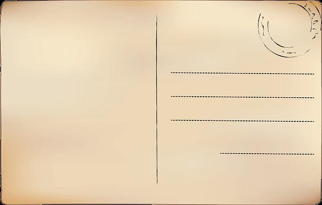 razítko na pohlednici