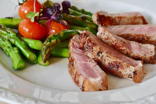 Steak, zdravé jídlo, healthy food.
