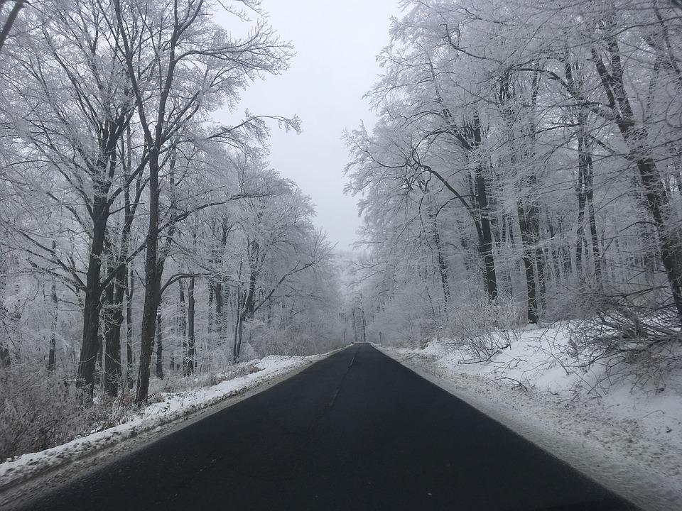 jízda v zimě